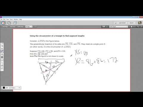 Using the circumcenter to find segment lengths in triangles