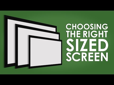 Choosing The Right Sized Projection Screen