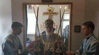 Благословение митрополита Минского  Павла в храме в честь иконы Божией Матери «Всецарица» .