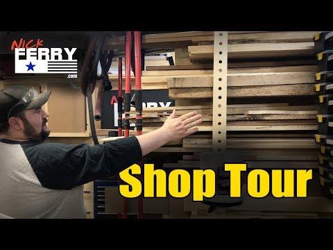 Ⓕ Shop Tour Of My 2 Car Garage Workshop / Woodshop (ep87)