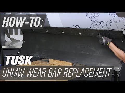 How To Replace the Tusk SubZero Snow Plow UHMW Wear Bar
