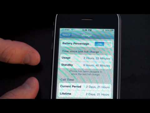 iPhone 3GS Battery indicator