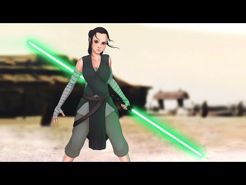 Will REY have a DOUBLE LIGHTSABER in THE LAST JEDI?