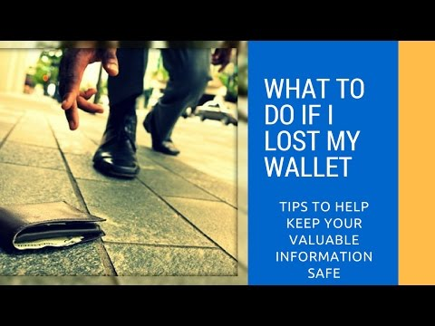 What To Do If I Lost My Wallet | What Should I Do | Lost Wallet