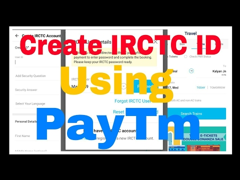 Most Easy Way   To Create IRCTC User ID   Using Paytm App