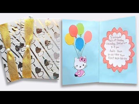 How to make birthday invitation card / CRAFT IDEAS FOR BIRTHDAY
