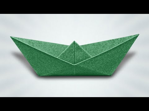 How to Make a Paper Boat (Origami Instructions)