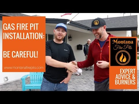 Gas Fire Pit Installation - BE CAREFUL!