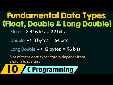 Fundamental Data Types − Float, Double & Long Double
