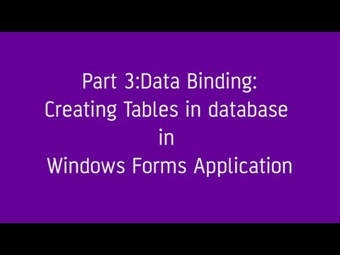 How to create Tables in Database in Windows Forms Application