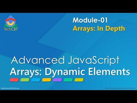 Advanced JavaScript - Module 01 - Part 02 - Add array elements dynamically