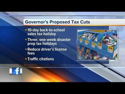 Florida Governor wants longer tax holidays and cuts in license fees
