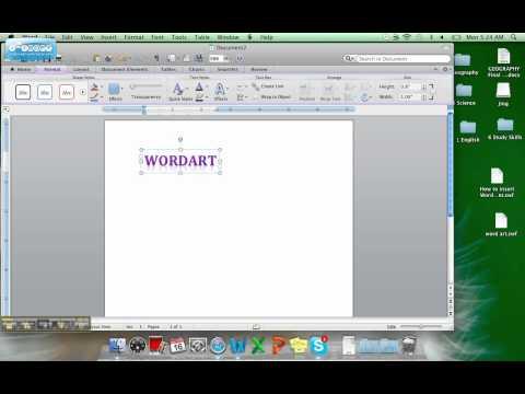 How To Insert WordArt on a Mac- Final.RB