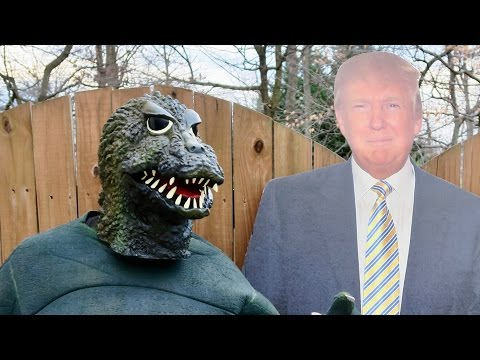 Godzilla vs Trump -- Who Will Win?  ✅
