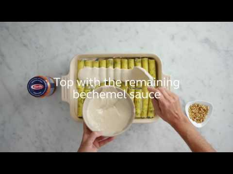 How to make Cannelloni with spinach & Ricotta sauce