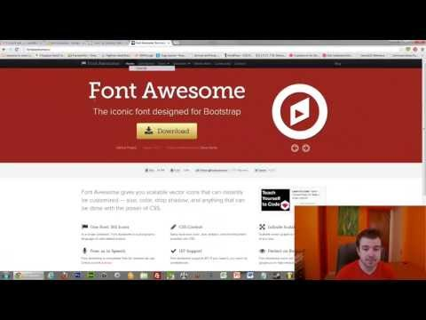 How to use fontawesome for easy iconography on your website