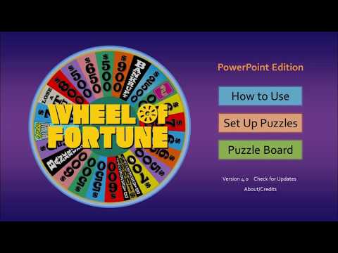 Wheel of Fortune for PowerPoint by Tim's Slideshow Games