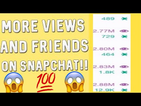 HOW TO GET MORE SNAPCHAT FRIENDS & VIEWS (100% LEGIT & FREE)