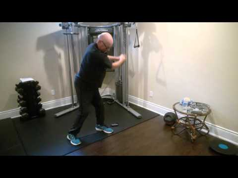 Improve your Golf/Baseball Swing with this Wood Chop Hip Rotation Move