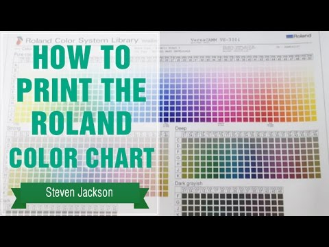 How to Print the Roland Color Chart