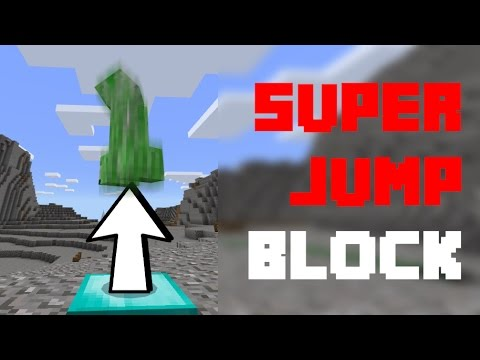 How to make a JUMP BOOST block with command blocks in Minecraft BE or PE