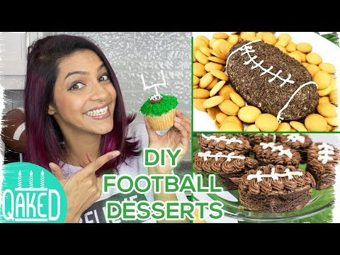 4 Easy Football Desserts | Superbowl Party Ideas | DIY & How to