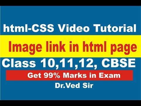 image link in html web page SEO video tutorial   make website by html css