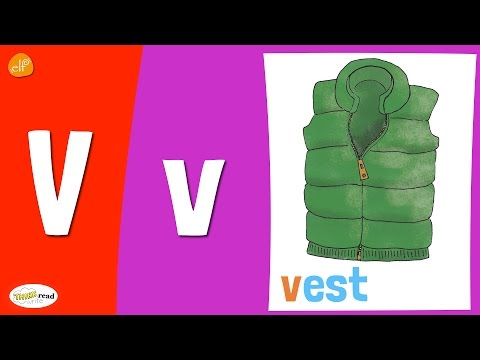 Letter V Practice - Phonics and Vocabulary - Think Read Write - Children's Learning Videos