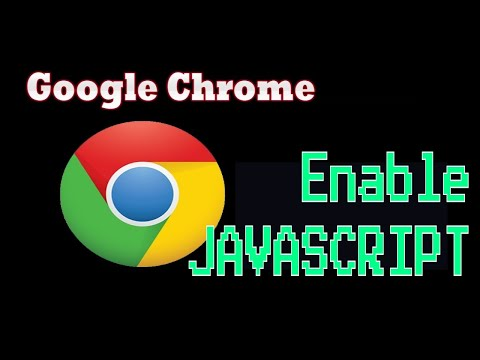 how to enable javascript on google chrome browser in windows