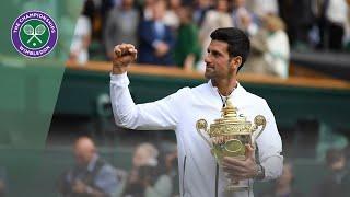 Wimbledon 2019 gentlemen's singles trophy presentation