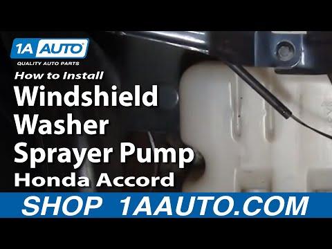 How To Install Repair Replace Windshield Washer Sprayer Pump Honda Accord 98-02 1AAuto.com