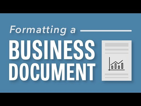Formatting a Business Document