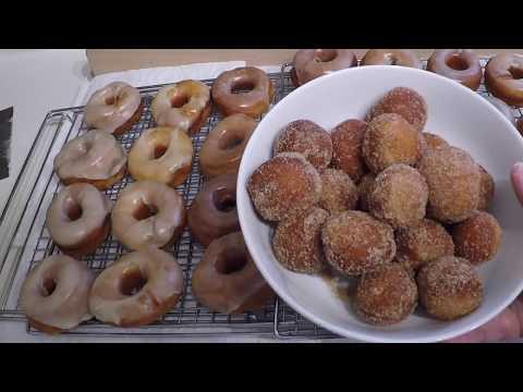 Making Glazed Raised Donuts