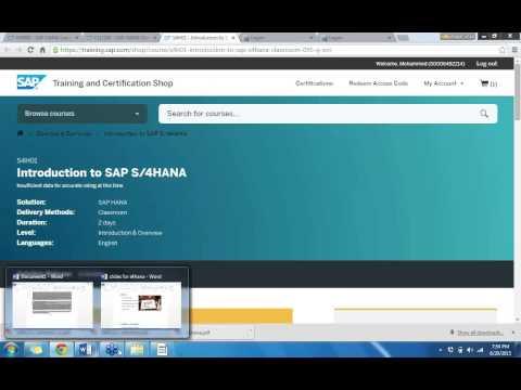 SAP S4HANA ONLINE TRAINING CLASS