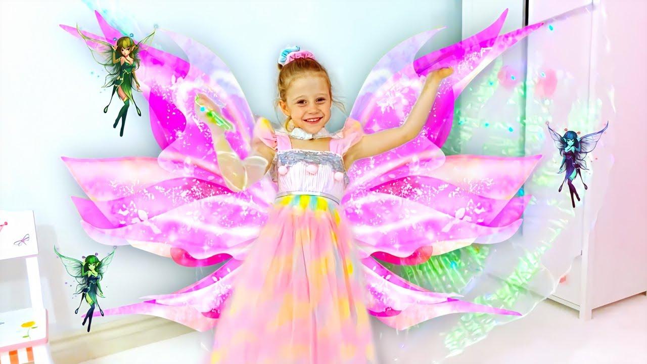Nastya et la nouvelle poupée jouet Pixies Crystal Flyers