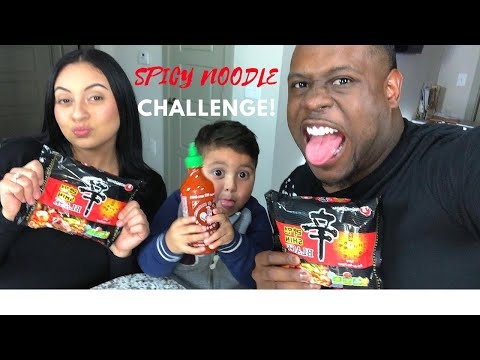EXTREME SPICY NOODLE CHALLENGE WITH FIANCE | MUKBANG