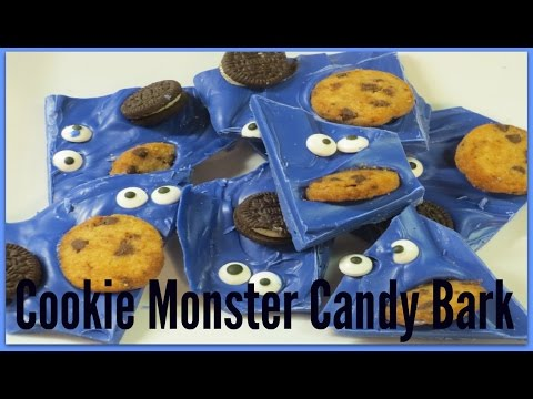 How to make Cookie Monster Candy Bark!