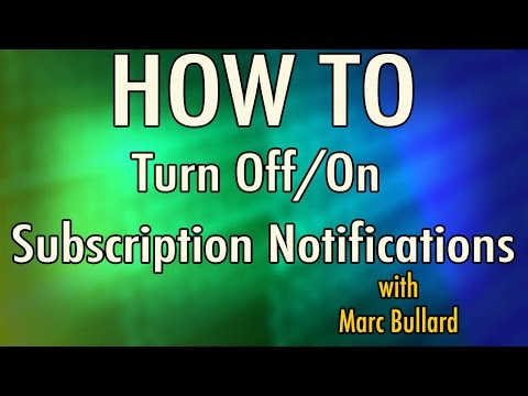 How to Turn Off/On YouTube Subscription Notifications