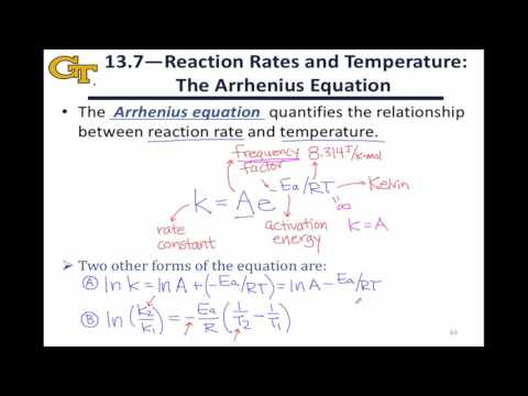 13.4 The Arrhenius Equation