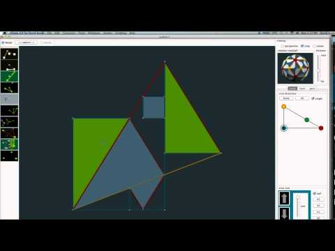 Area of square to scalene triangle