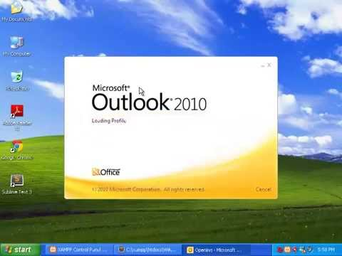 Sending Email to Microsoft Outlook 2010 Using XAMPP (Windows XP 32-bit)