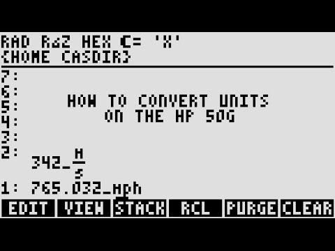 How to Convert Units with the HP-50g