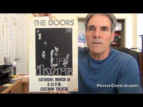 Doors Concert Poster 1968 Rochester, NY – Jim Morrison Listed on Poster