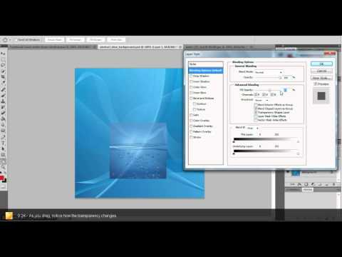 How to change transparency in photoshop (of a photo or object)