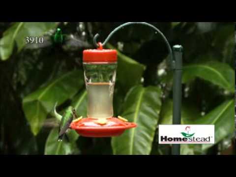 3910 -  Homestead's 12 oz. Glass Hummingbird Feeder