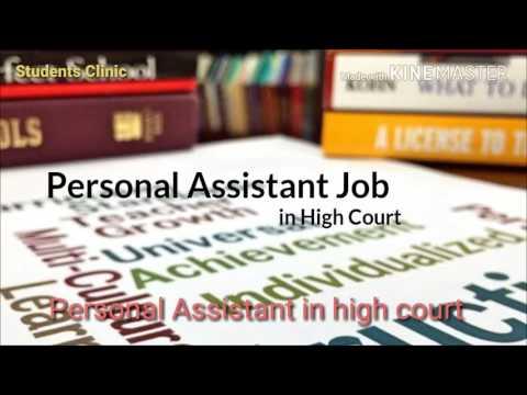 Govt. Job as personal assistant