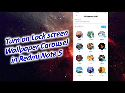 Change Lock screen Wallpaper Automatically in Redmi Note 5