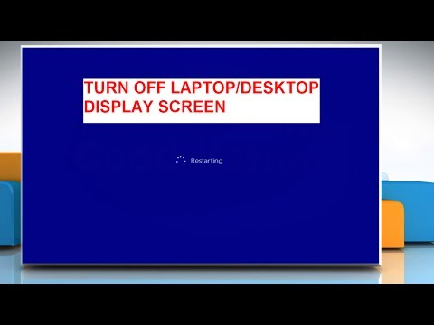 How to Create a Desktop Shortcut to Turn OFF the Monitor in Windows® 8