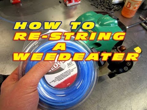 HOW TO Restring A Weedeater Grass Trimmer
