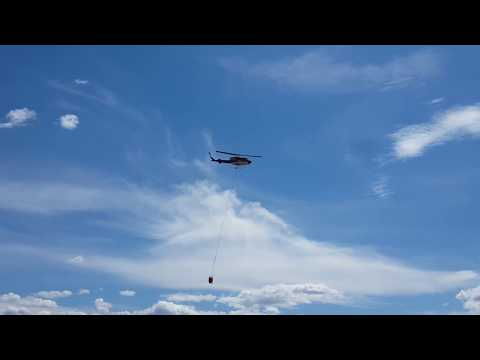 Bell 212 taking off from Princeton, BC Canada airport! July 10, 2017